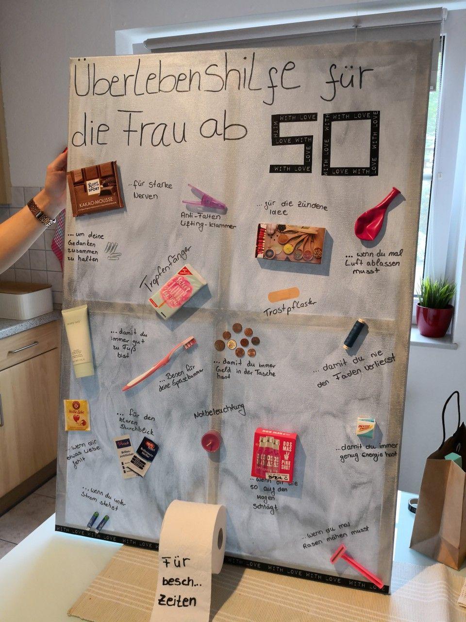 Geschenke Für Frauen Ab 70  Überlebenshilfe für Frau ab 50 Geburtstagsgeschenk 50