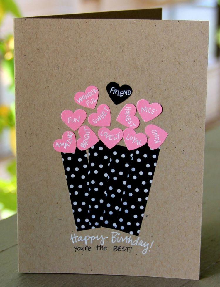 Geschenke Für Freundin Selber Basteln  Geburtstagskarte für eine Freundin selber basteln mit