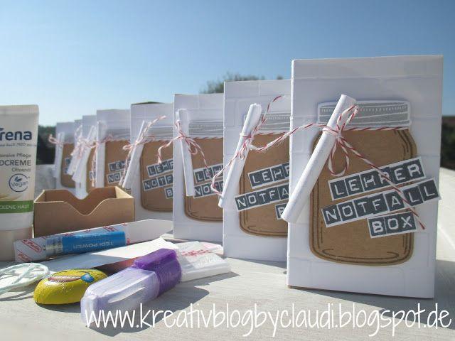 Geschenke Für Lehrer Zum Abschluss  Kreativ Blog by Claudi Notfall Set für Lehrer