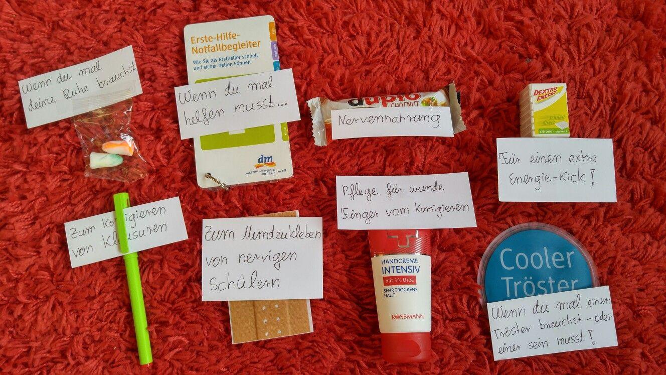 Geschenke Für Lehrer Zum Abschluss  Lehrer Notfall Kit das perfekte Geschenk für angehende