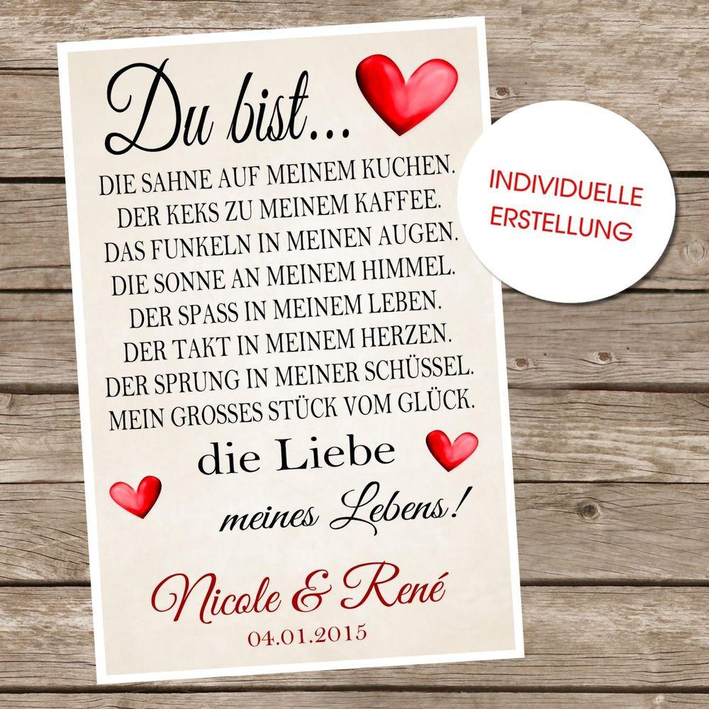 Geschenke Für Männer Zum Jahrestag  Valentinstag Geschenk Liebe Hochzeitstag Jahrestag oder