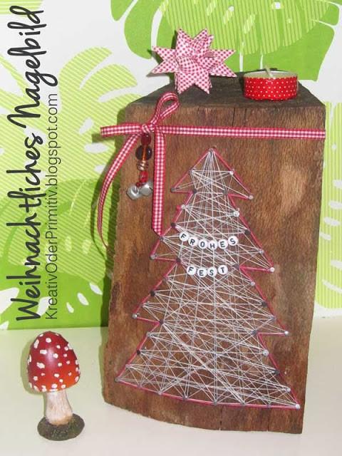 Geschenke Für Oma Selber Machen  Weihnachtliches Nagelbild HANDMADE Kultur