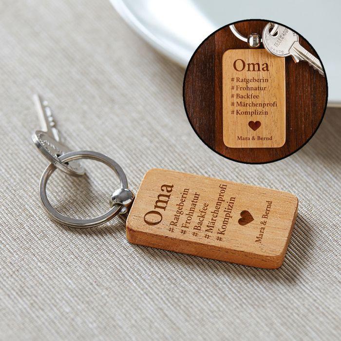 Geschenke Für Oma Selber Machen  Persönliches Geschenk Schlüsselanhänger graviert