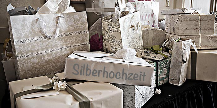 Geschenke Silberhochzeit Eltern  Geschenke zur Silberhochzeit