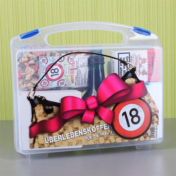 Geschenke Zum 18 Geburtstag Mädchen  Überlebenskoffer für Frau ab 18