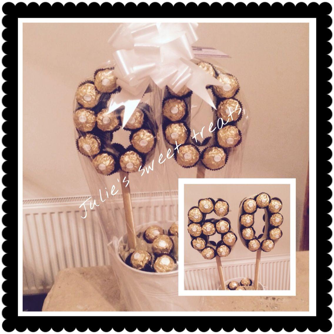 Geschenke Zum 60 Geburtstag Mama  60th ferrero rocher tree … Candy Bouquet