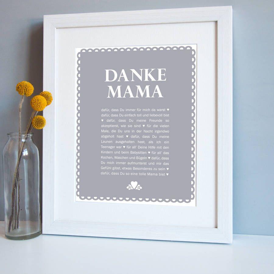 Geschenke Zum 60 Geburtstag Mama  Die besten 25 Danke mama Ideen auf Pinterest