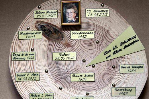 Geschenke Zum 60. Geburtstag Mutter  Geschenke zum 60 Geburtstag Bauers Baumscheiben