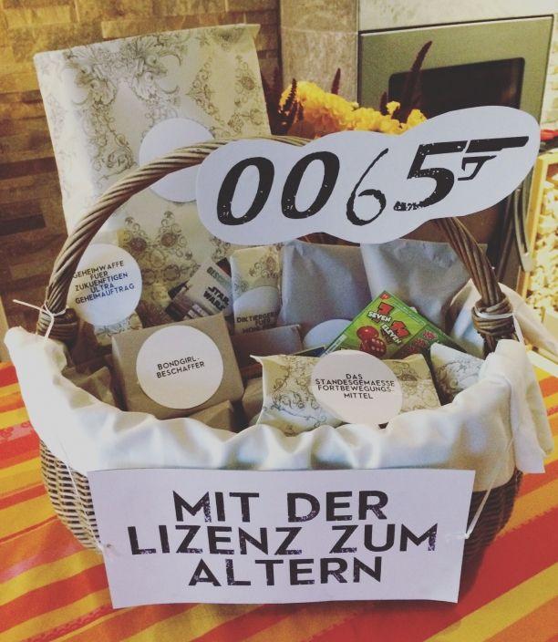 Geschenke Zum 65  Geschenkekorb zum Geburtstag