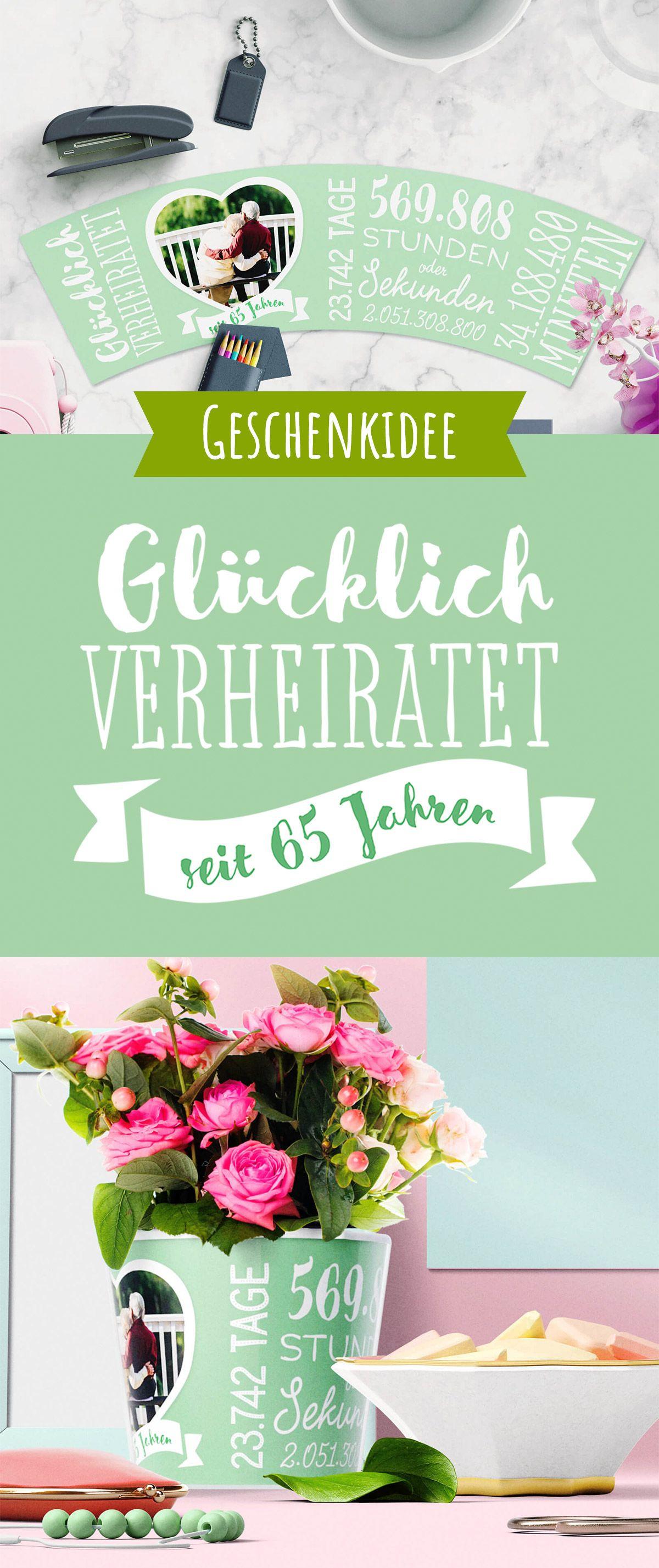 Geschenke Zum 65  65 Hochzeitstag – Eiserne Hochzeit Geschenke zum 65
