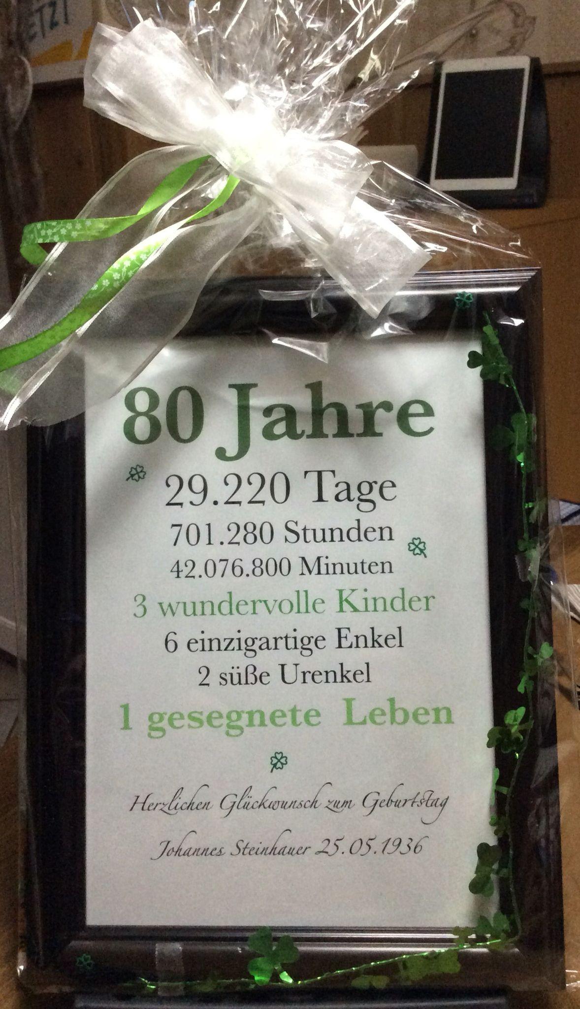 Geschenke Zum 80. Geburtstag Oma  Die besten 25 Zum 80 geburtstag Ideen auf Pinterest