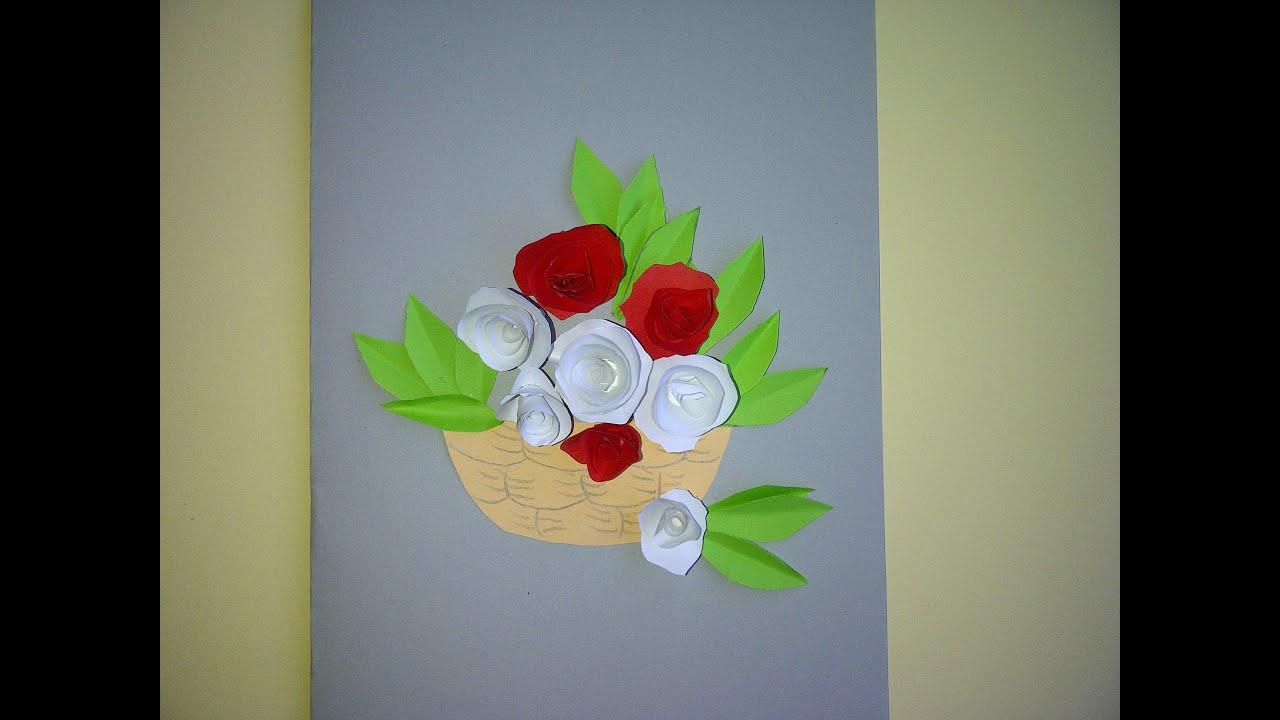 Geschenke Zum Muttertag Basteln  Schöne Geschenke zum Muttertag 3D Blumenkarte mit Rosen