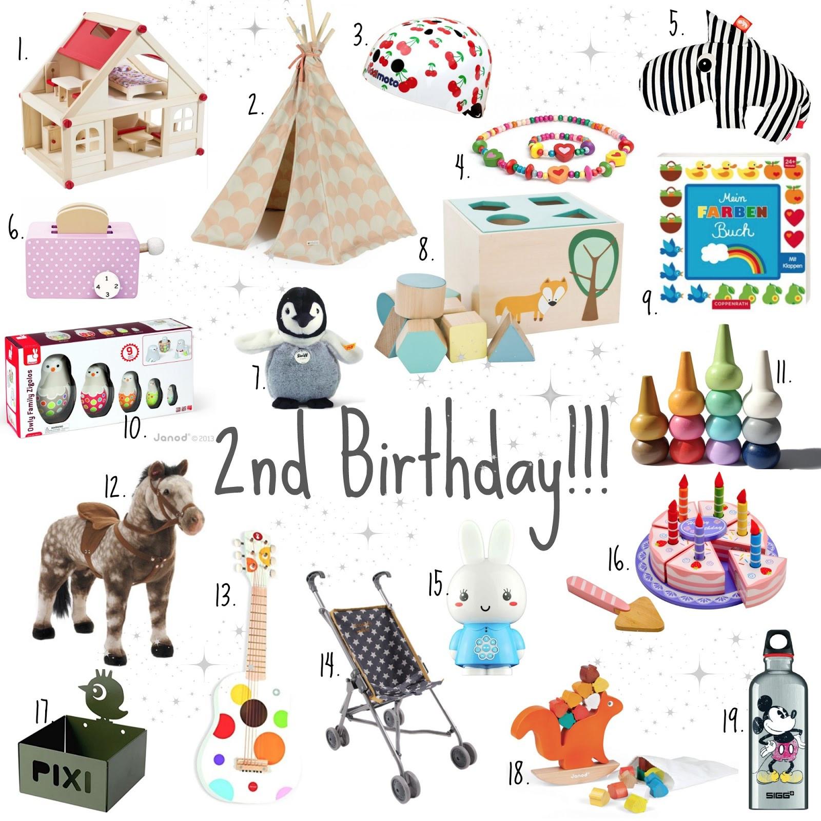 Geschenke Zum Zweiten Geburtstag  Kids