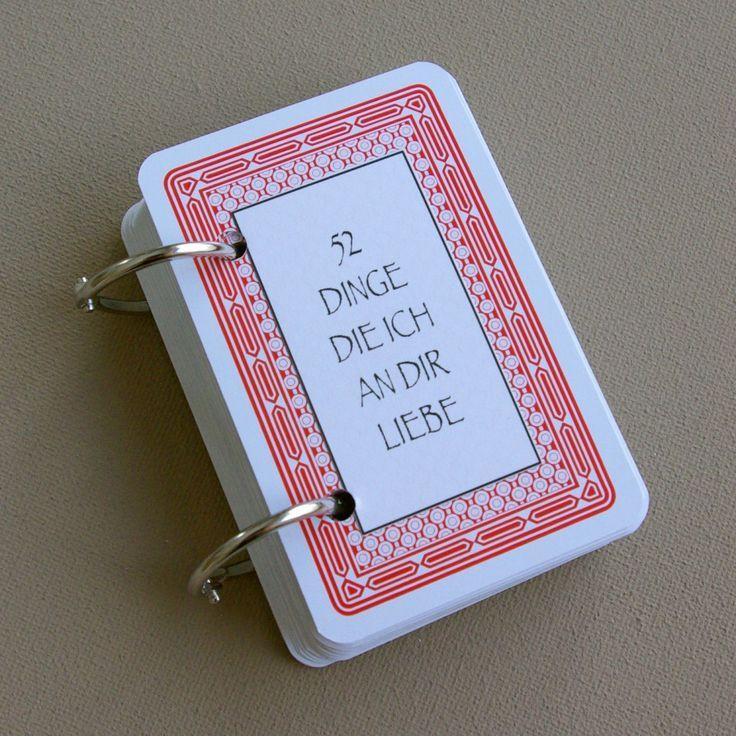 Geschenkideen Für Partner  52 Dinge ich an dir liebe Karten Kartenspiel