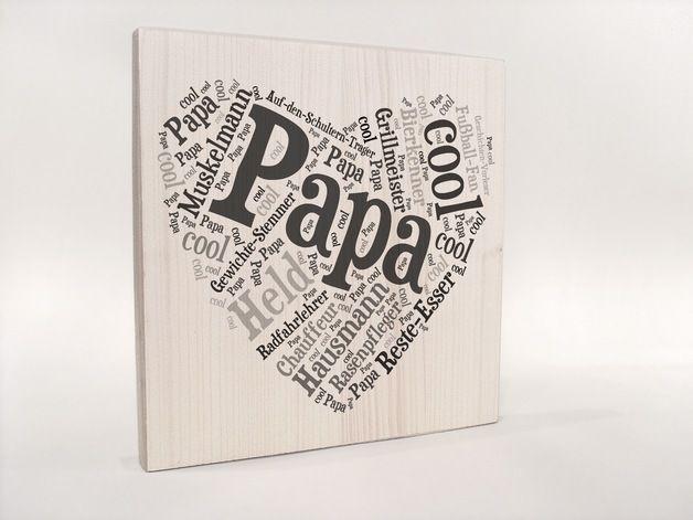 Geschenkideen Für Vater  Papa Herz Geschenk für Papa Geschenkidee Papa