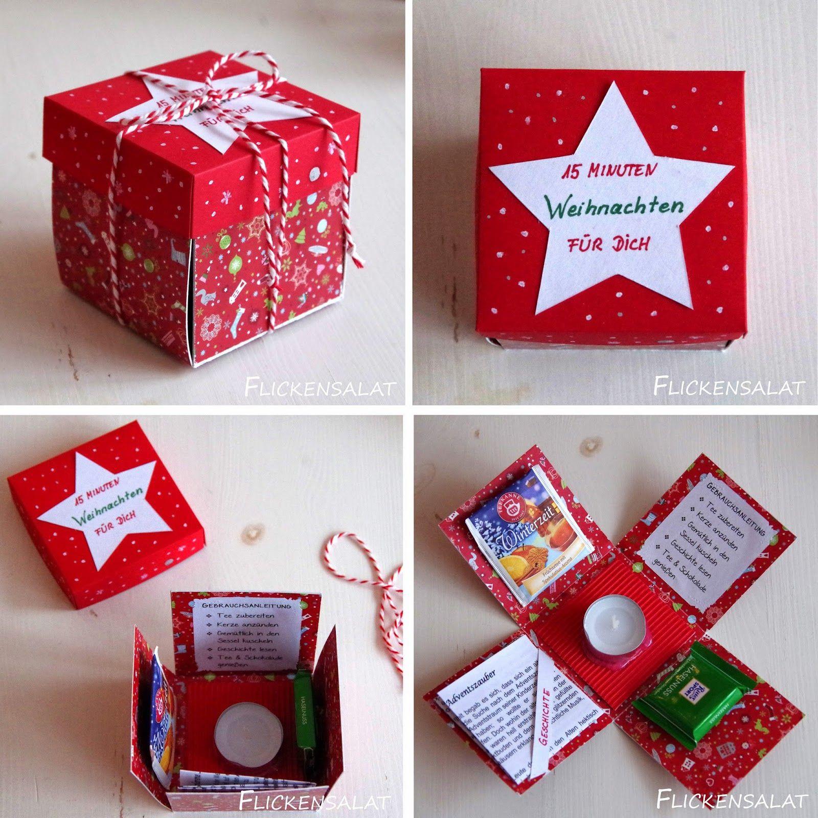 Geschenkideen Wichteln  Die 15 Minuten Weihnachten Box Nice