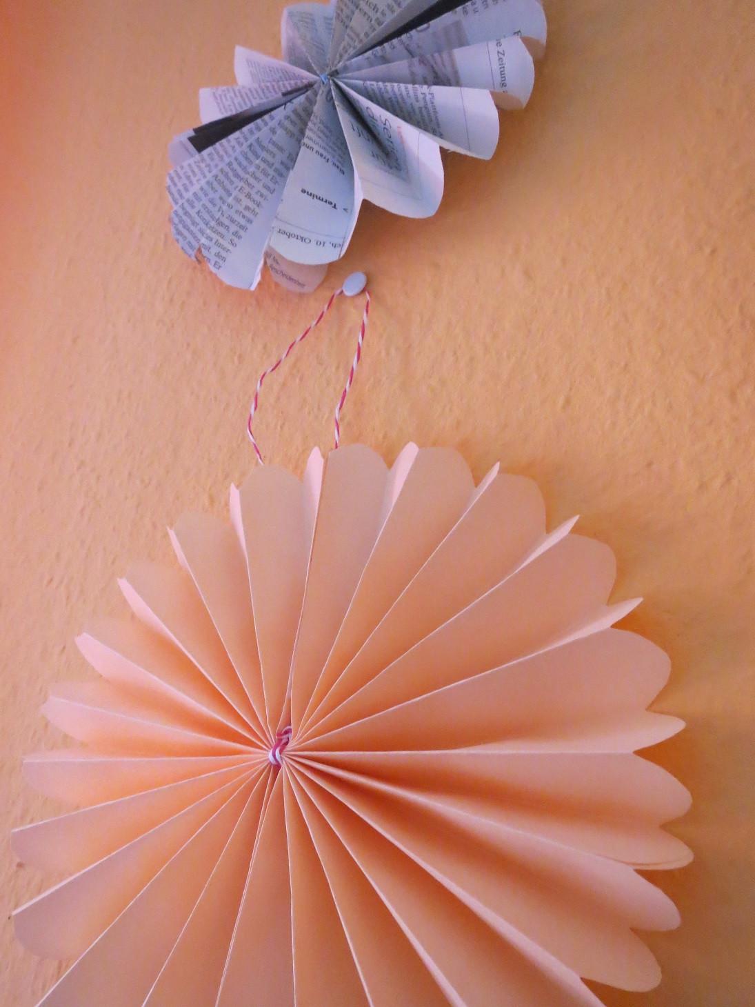 Girlande Diy  DIY Memorybook 2014 und Papier Girlande – Sternenwind – Blog