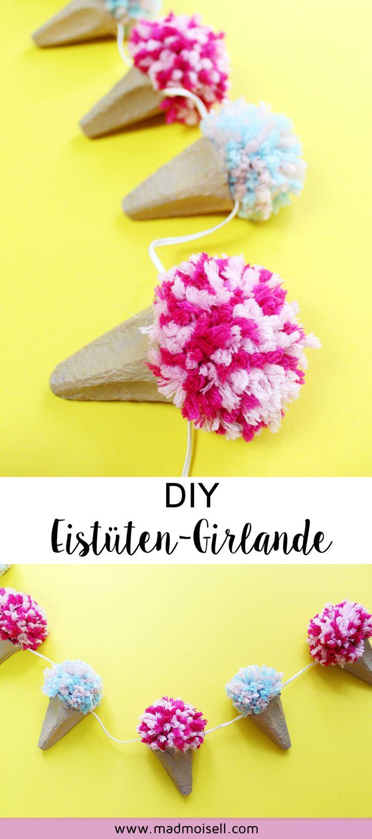 Girlande Diy  Die 25 besten Ideen zu Bastelideen sommer auf Pinterest