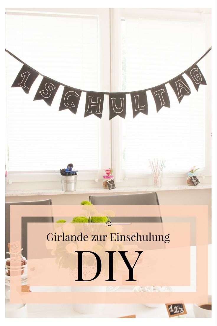 Girlande Diy  DIY mit Tafelstoff Eine Girlande zur Einschulung