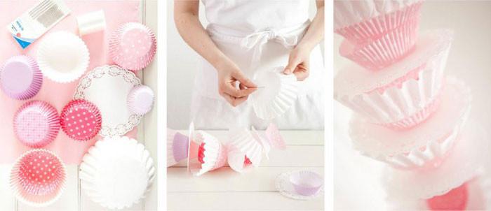 Girlande Diy  DIY Girlande aus Muffin Förmchen Hochzeitsblog Fräulein