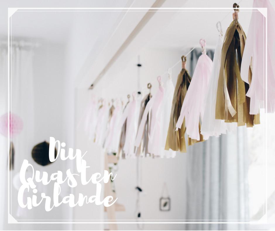 Girlande Diy  DIY Quasten Girlande Boho and Nordic