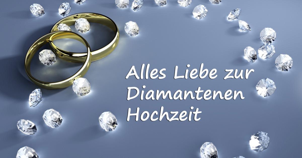 Glückwunsch Zur Diamantenen Hochzeit  Bild Alles Liebe zur diamantenen Hochzeit