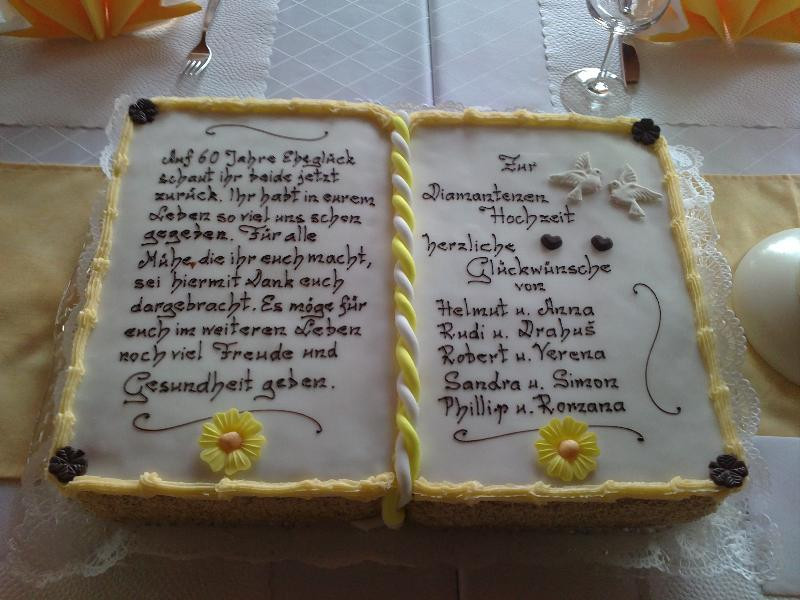 Glückwunsch Zur Diamantenen Hochzeit  Rosa und Helmut Staringer Diamantene Hochzeit 2010