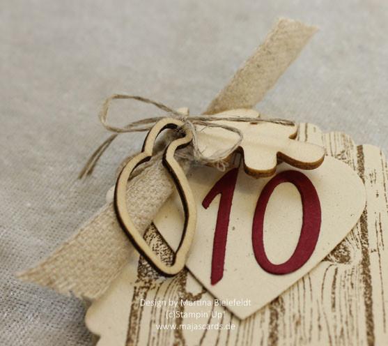 Glückwünsche Zum 10. Hochzeitstag Hölzerne Hochzeit  Glückwunschkarte zur Hölzernen Hochzeit 10 Hochzeitstag