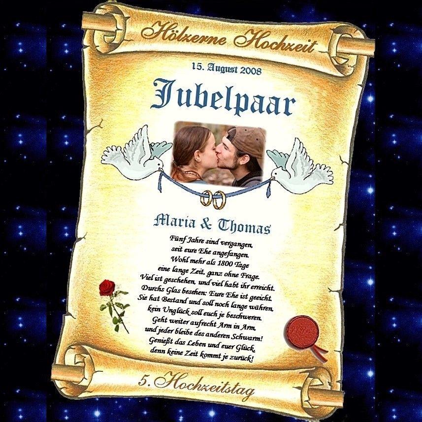 Glückwünsche Zum 10. Hochzeitstag Hölzerne Hochzeit  Hölzerne Hochzeit 5 oder 10 Hochzeitstag GESCHENK