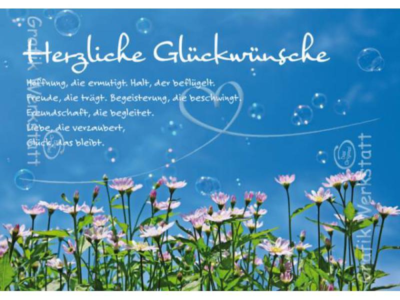 Glückwünsche Zur Hochzeit Grafikwerkstatt  Doppelkarte Herzliche Glück Grafik Werkstatt
