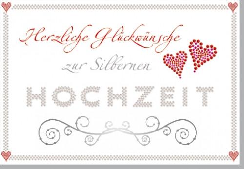 Glückwünsche Zur Silbernen Hochzeit  Grußkarte Glückwünsche zur Silbernen Hochzeit