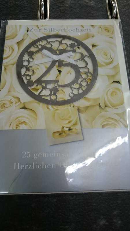 Glückwünsche Zur Silbernen Hochzeit  Glückwünsche Zur Silbernen Hochzeit Neu Glückwunschkarte