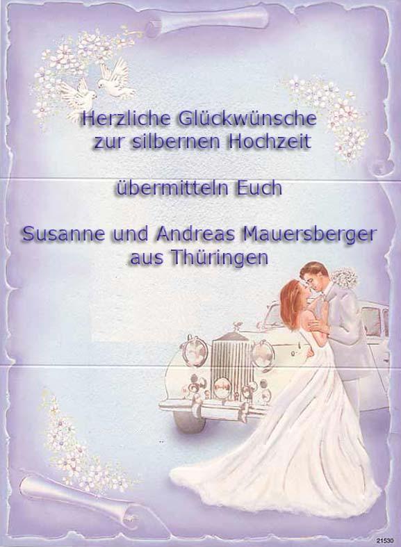 Glückwünsche Zur Silbernen Hochzeit  Herzliche Glückwünsche zur Silbernen Hochzeit