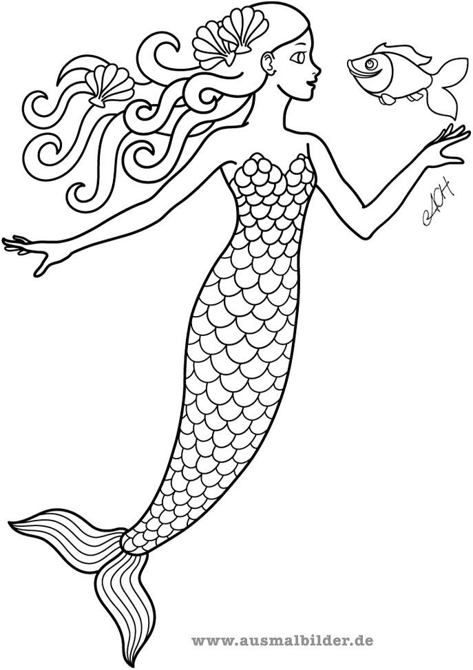 H2O Ausmalbilder  Mermaid Mania Forum Bilder von Meerjungfrauen