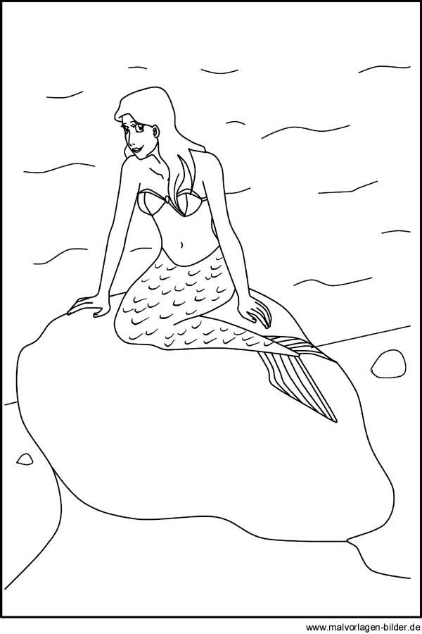 H2O Ausmalbilder  Ausmalbilder meerjungfrau h2o kostenlos Malvorlagen zum