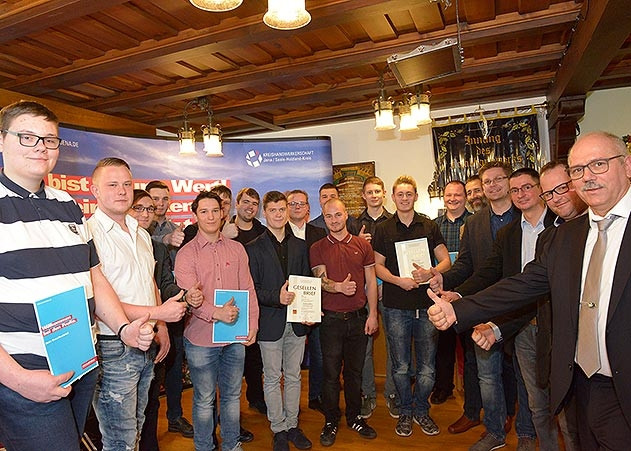 Handwerk Seiferts  Kreishandwerkerschaft 23 Gesellen in Jena fertig Jenaer