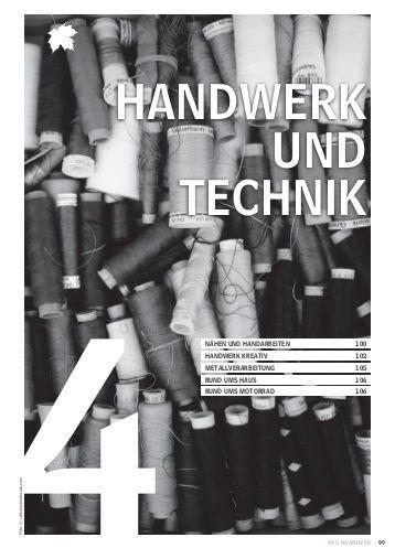 Handwerk Technik De  Produktionsverfahren im Handwerk Christiani Schule