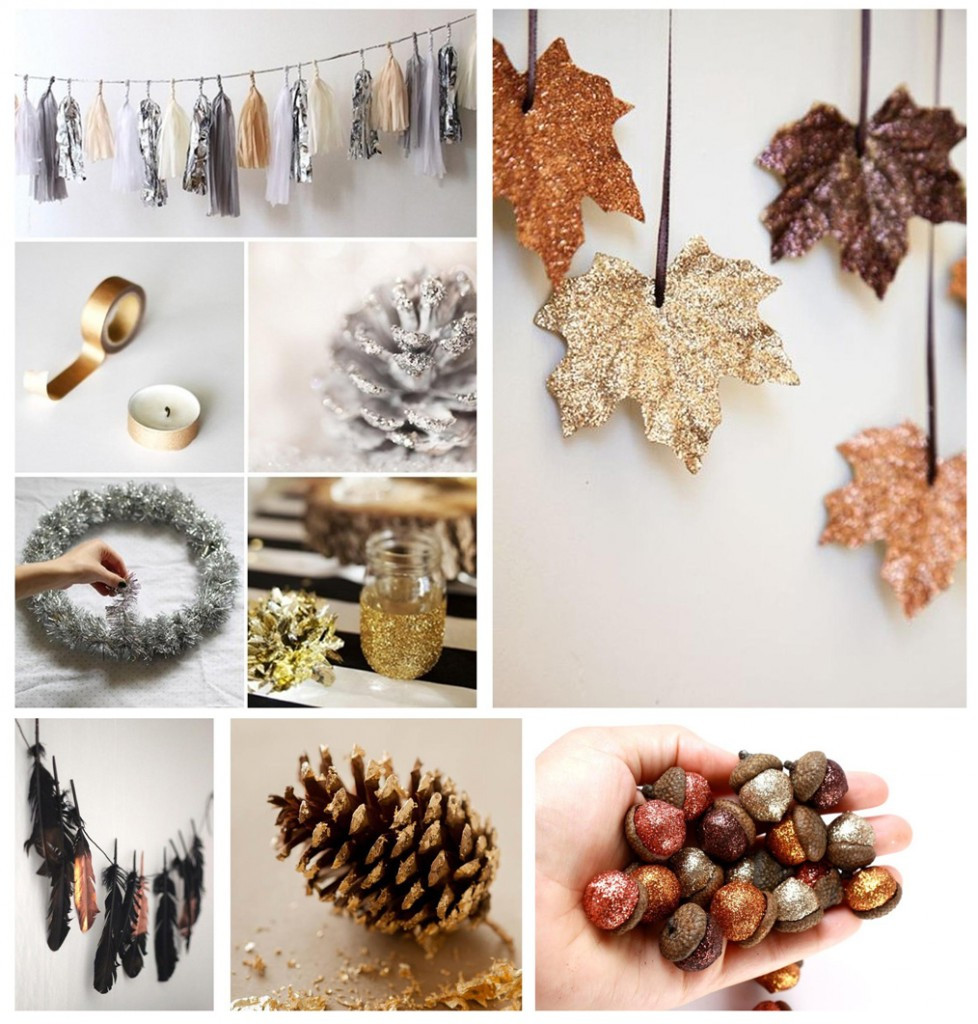 Herbst Diy  Herbst Deko DIY in Metallic und Glitter › MONAQO