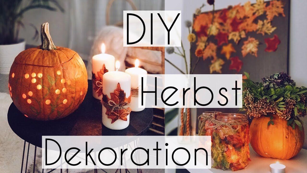 Herbst Diy  DIE SCHÖNSTEN DIY HERBST DEKOIDEEN für dein ZIMMER