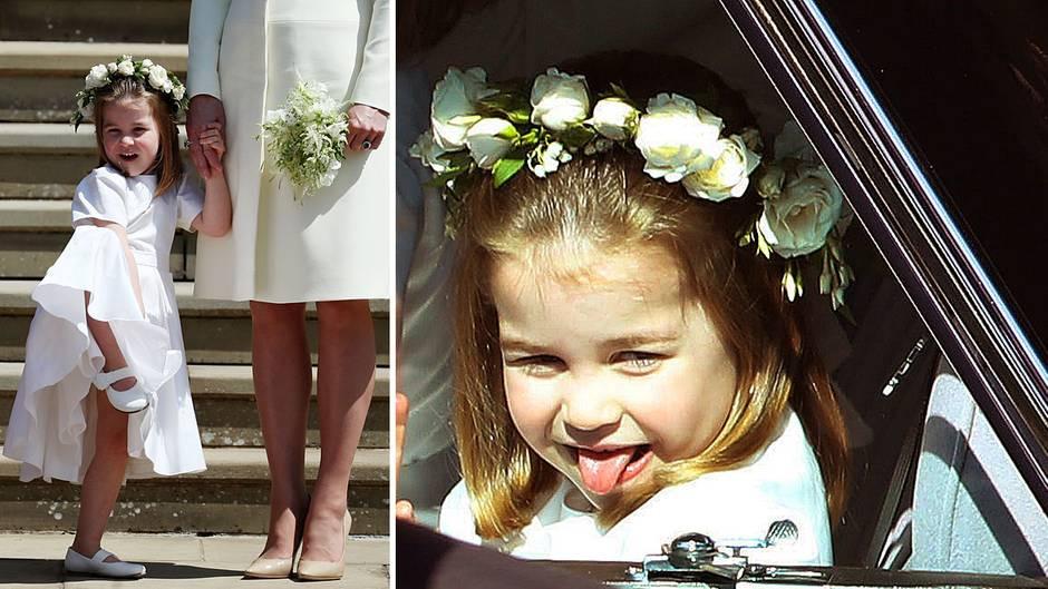 Hochzeit Harry Meghan Kate  Hochzeit Harry und Meghan Prinzessin Charlotte als