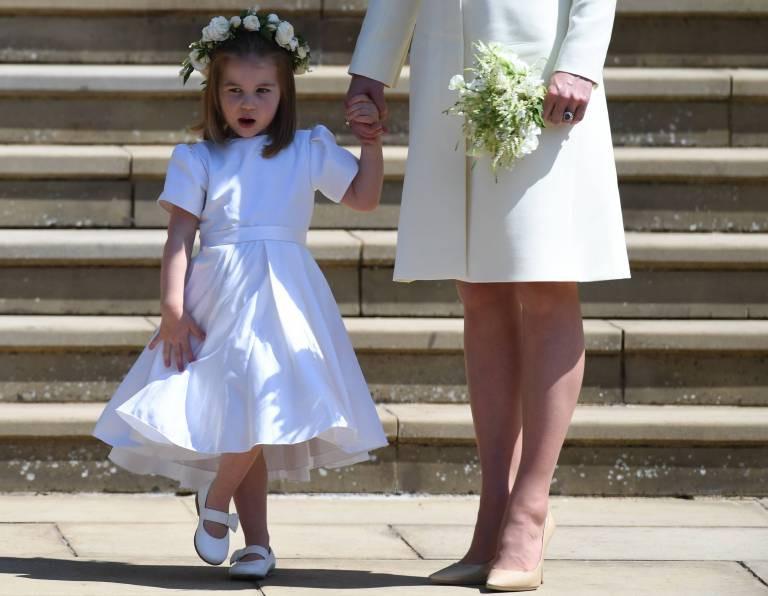 Hochzeit Harry Meghan Kate  Prinzessin Charlotte Bei der Hochzeit von Harry und