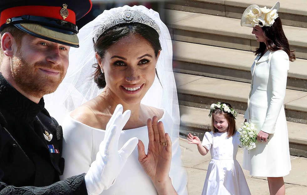 Hochzeit Harry Meghan Kate  Mit sem Kleid leistete sich Herzogin Kate einen echten
