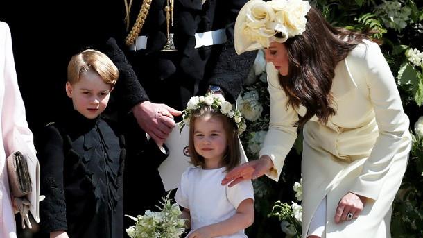 Hochzeit Harry Meghan Kate  Hochzeit von Harry & Meghan George und Charlotte sorgten