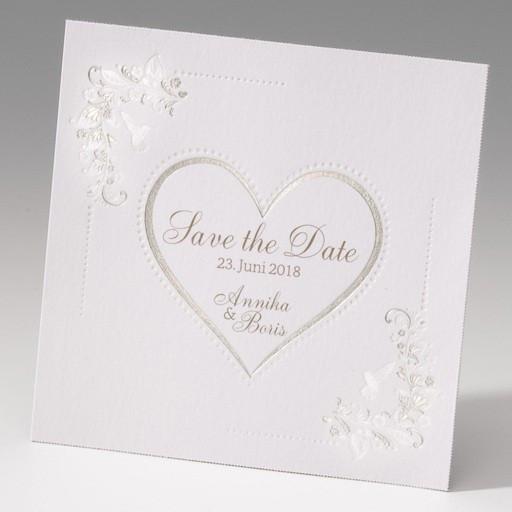 Hochzeit Karte Text  Romantische Save the date Karte zur Hochzeit mit