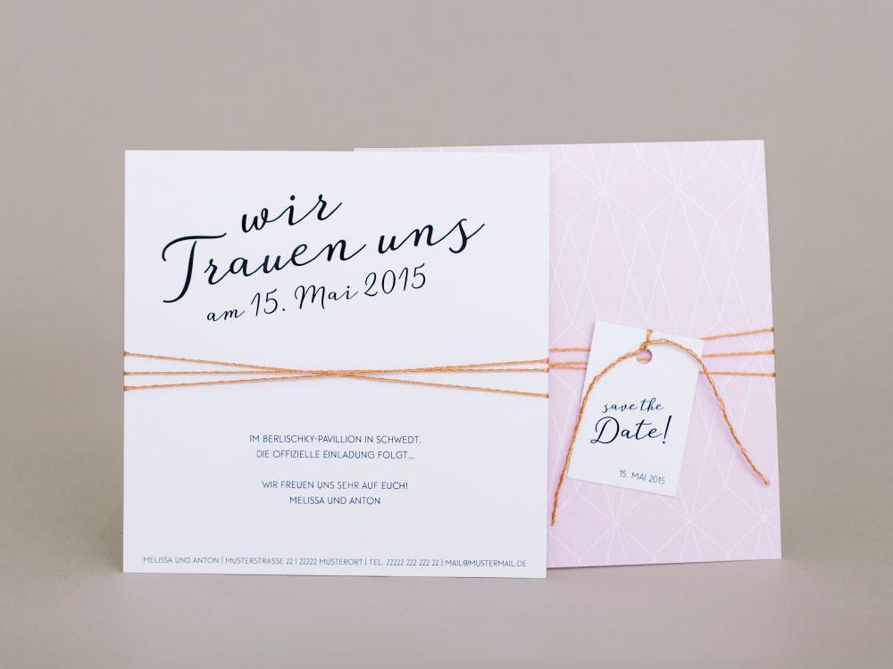 Hochzeit Karte Text  Save the Date Karte Beautiful Love prettycards