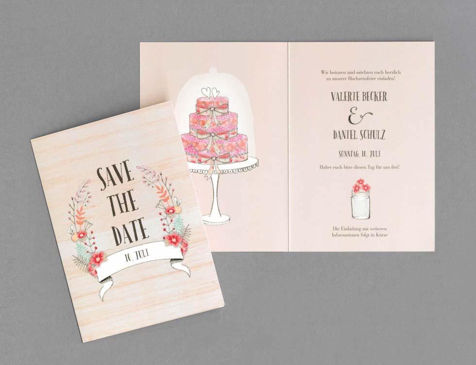 Hochzeit Karte Text  Save the Date zur Hochzeit – Texte und Ideen