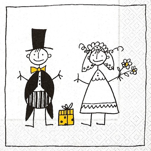 Hochzeit Lustig Bilder  Lunch Servietten Hochzeit bedruckt Design JUST MARRIED