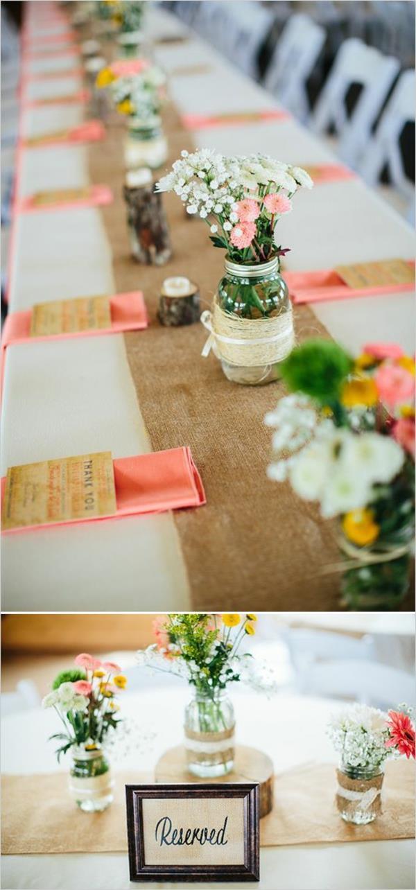 Hochzeit Tisch  Vintage Tischdeko zur Hochzeit 100 faszinierende Ideen