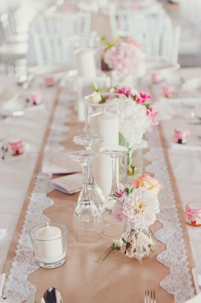 Hochzeit Tisch  Tisch Dekoration Hochzeit Vintage Spitze Läufer Romantisch