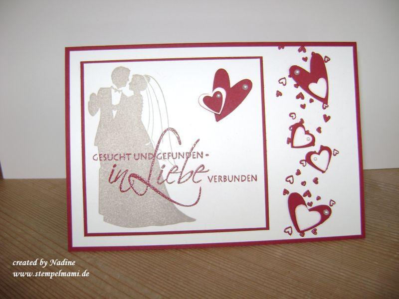 Hochzeitskarten Stampin Up  Hochzeitskarten